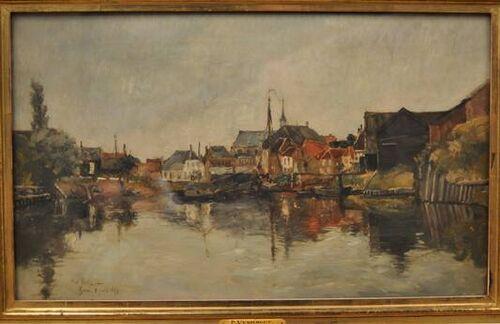 #LesXX member Piet Verhaert (Belgian, 1852-1908), Haven te Goes, 1889, Museum Boijmans Van Beuningen, Netherlands.