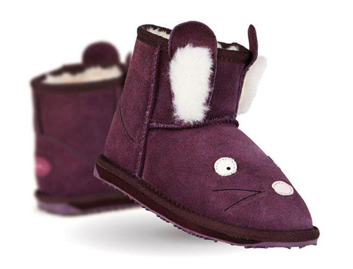 NWB EMU AUSTRALIA Little Creature Baby/'s Rabbit Mini Walkers in Purple K10910