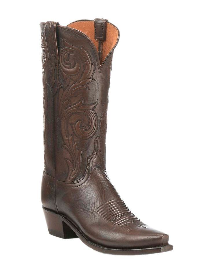 Lucchese 1883 Women's Burnished Antique Brown Western Snip Toe Boots |  Cavender's