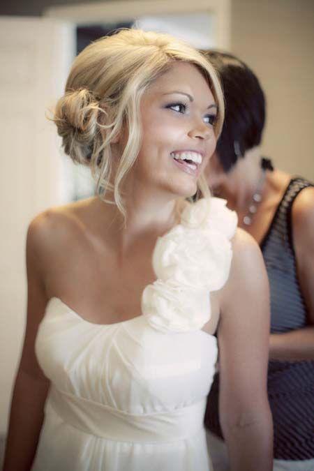Chignon knot hairstyle women