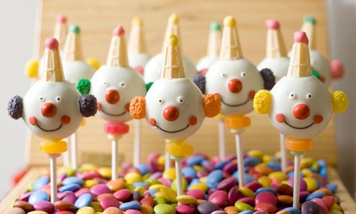 Clown cake pops