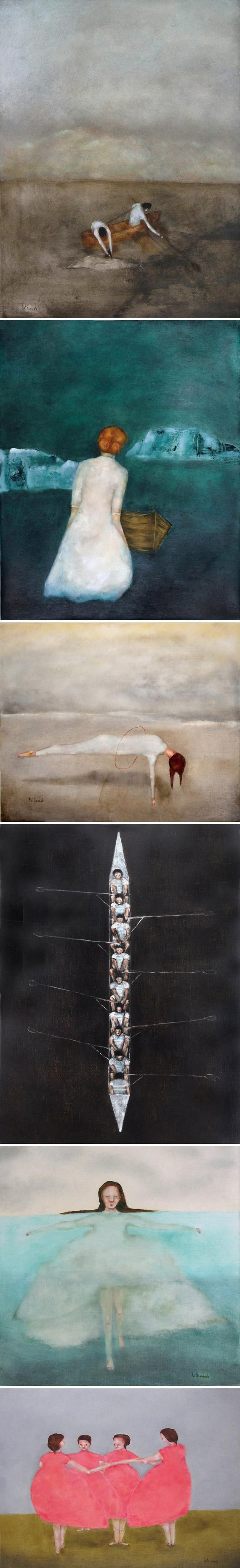 We're hypnotized by Kat Hannah's subtly spooky oil paintings and art prints of…