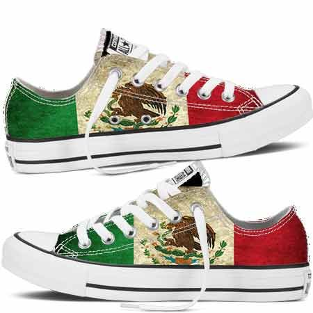 """www.cholonation.com New """"Viva Mexico"""" Custom Chuck Taylors by Cholo Nation. On Sale: $124.99 Regular $149.99  Now you can customize your Chucks. Choose from High Tops or Low Tops and our Designs or your own pictures. FREE SHIPPING IN THE US. Call 855-GO-CHOLO,visit www.cholonation.com or email orders@cholonation.com to start customizing your pair today. #Custom #Chucks #Converse #Kicks #VivaMexico ##Allstars #Allstar #Chucktaylors #ChuckTaylor"""