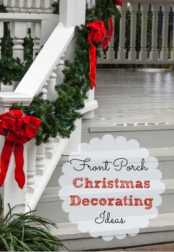 Front Porch Christmas Decorating Ideas (And a Speed Cleaning Checklist). Is your front porch a little scary? Are you and your guests greeted with cobwebs, piles of dirt and broken toys? One way to get your home Holiday ready is to clean it up, and then add some simple yet beautiful Holiday decor touches.
