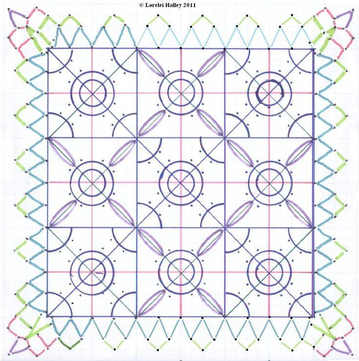 Needle lace pattern.