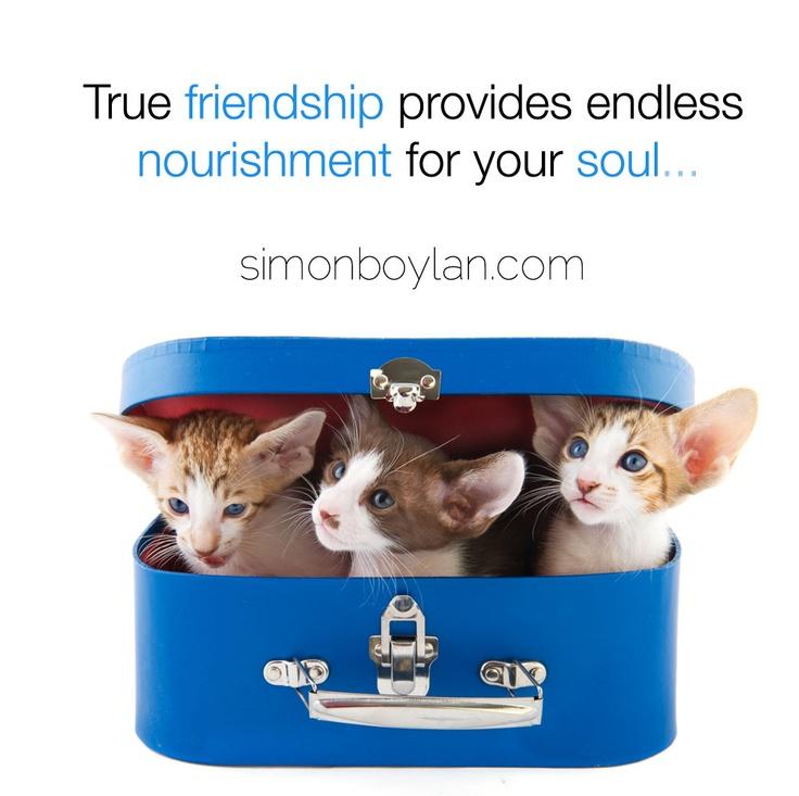 True friendship provides endless nourishment for your soul...