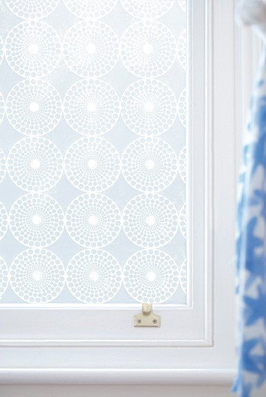 Emma Jeffs Contemporary Window Film in Pearl