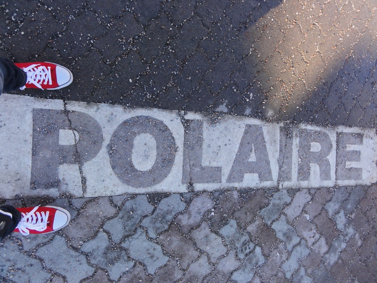 Arctic Circle boundary in Rovaniemi, Finland :)
