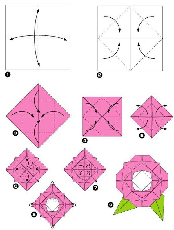 161 best images about arts paper origami on pinterest - Origami rose facile a faire ...