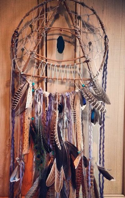 Love this homemade dream catcher