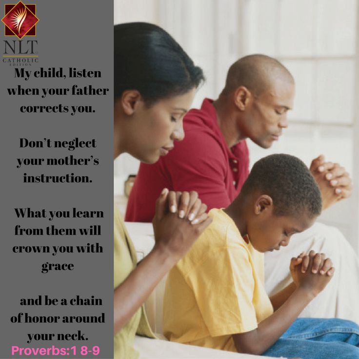 Parents you need to be good examples. Your children are watching you. Children, listen and honour your parents, it makes God very happy.
