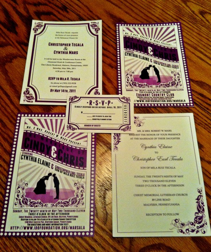 sister wedding invitation card wordings%0A Cute moviethemed invitations if the wedding u    s held in a theatre
