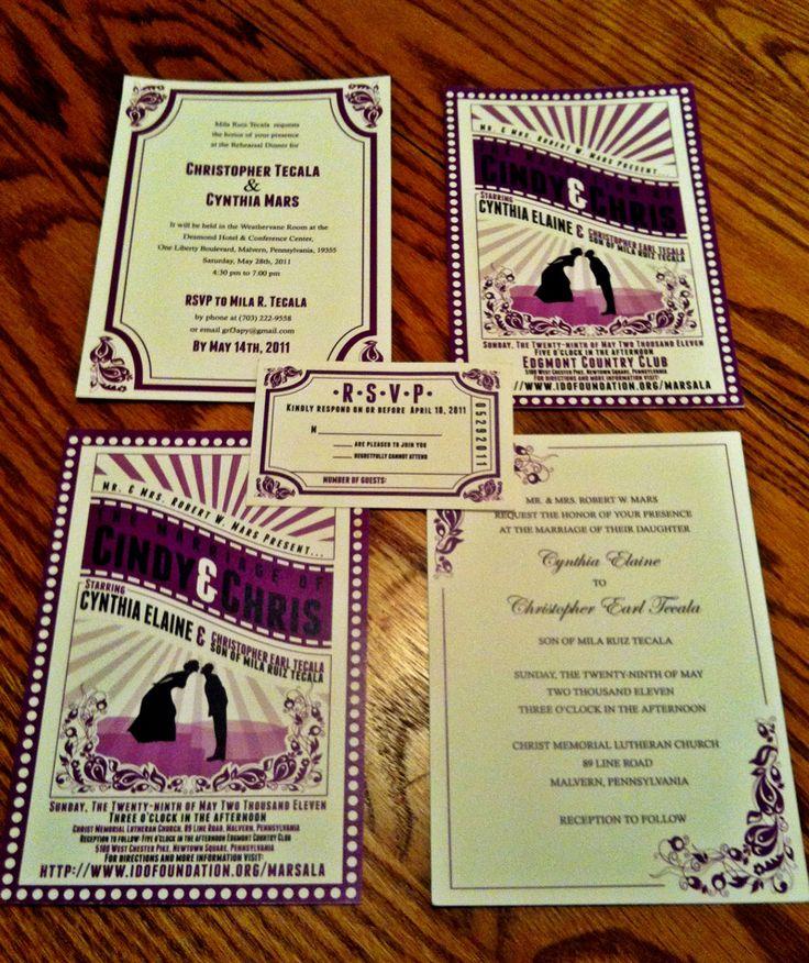Theatre Ticket Style Wedding Invitations - Wedding Invitation
