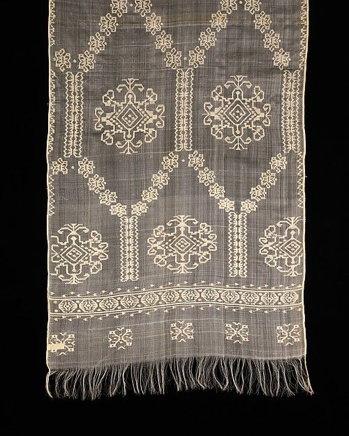 Romanian Head Scarf ~ 19th Century ~ The Metropolitan Museum of Art