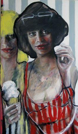 Esther Erlich  Vanilla - 2013  Acrylic on canvas  87 x 51 cm