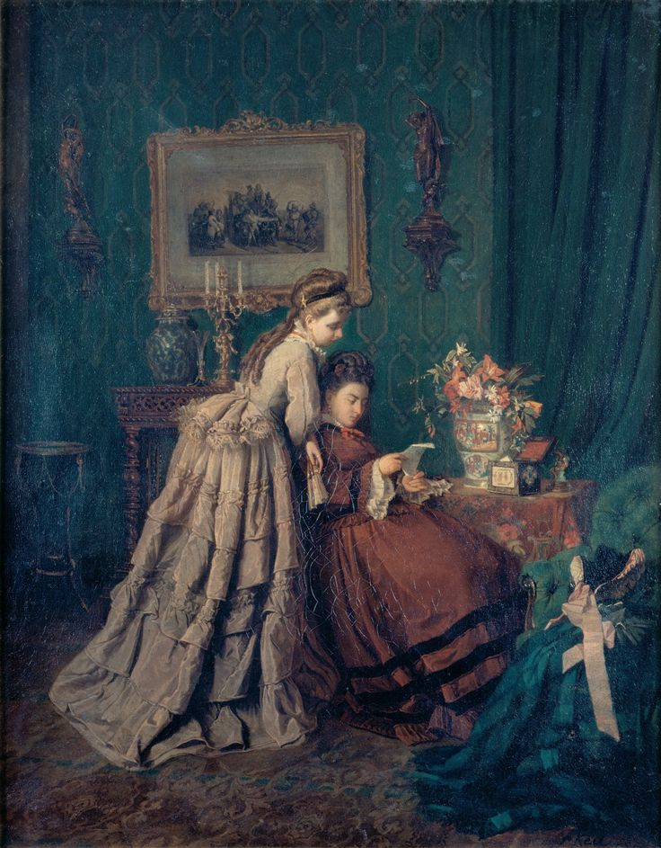 Reading a Letter by Alfredo Cristiano Keil (1874)