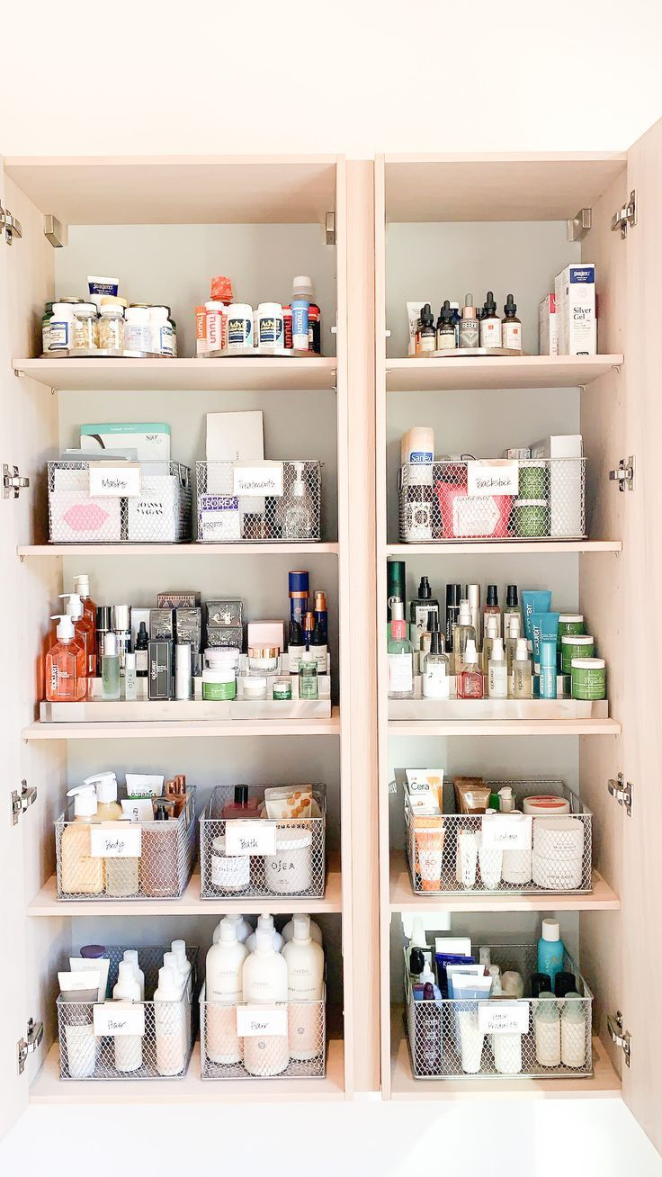 Actress Kate Bosworth S Beauty Product And Medicine Cabinet Just Got A Makeover In 2020 Medicine Cabinet Organization Cabinet Organization Cabinets Organization