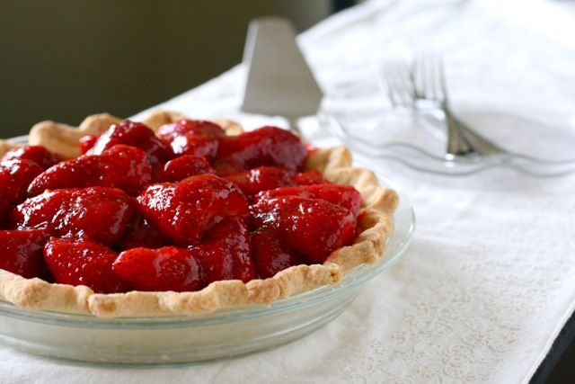 Fresh Strawberry Pie-   Fact: I can eat a WHOLE strawberry pie by myself.