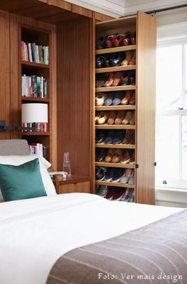 Closet design built-in with shoe rack