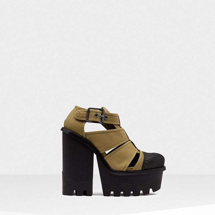 NWOB Hunter Original Canvas Platform Derby Heels Shoes #29 Olive Green US 6 M | Clothing, Shoes & Accessories, Women's Shoes, Heels | eBay!
