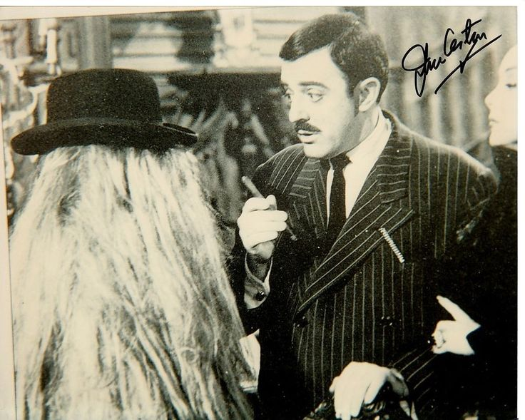 JOHN ASTIN signed THE ADDAMS FAMILY 8x10 w/ coa GOMEZ COUSIN ITT & MORTICIA