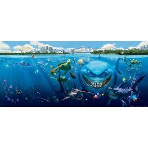 Némó és a cápa gyerek poszter (202 cm x 90 cm)