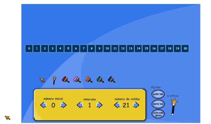 Recta numérica interactiva configurable como ustedes necesiten. Excelente para trabajar en la pizarra y luego con cada alumnos en las computadoras.