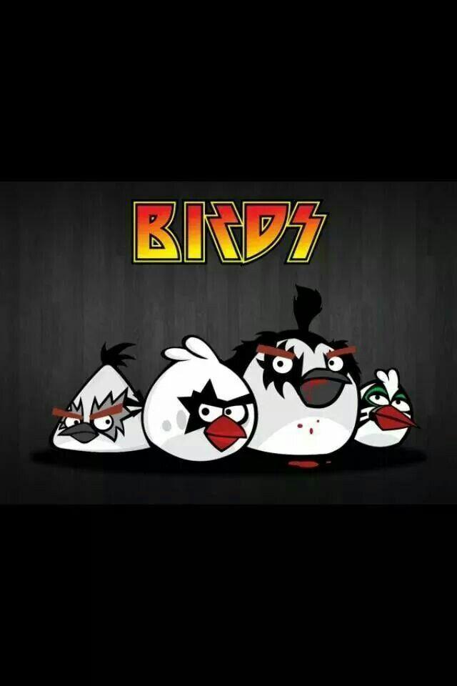Kiss Angry Birds | KISS Stuff | Kiss, Angry Birds, Enamel