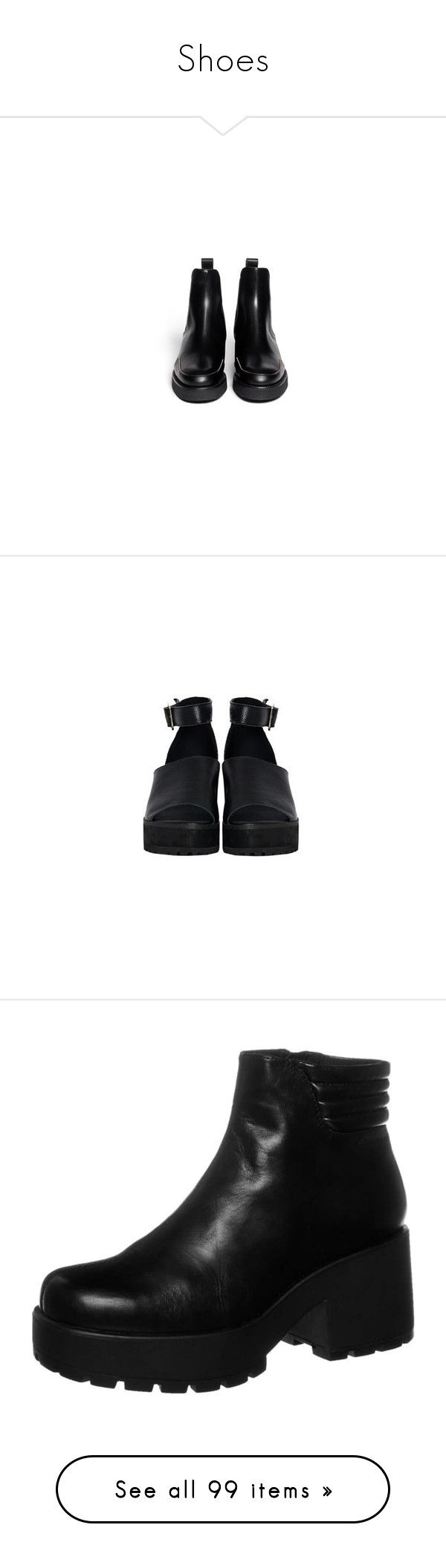 """""""Shoes"""" by dontbelievetheeyes ❤ liked on Polyvore featuring shoes, boots, ankle booties, real leather boots, black ankle booties, leather boots, black chelsea boots, black chelsea ankle boots, sandals and heels"""