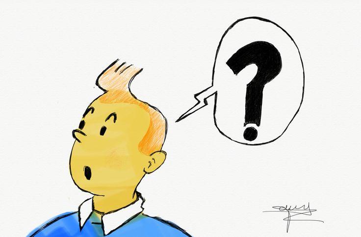 Tintin a l'iPad pro et Apple stylet par Trinity