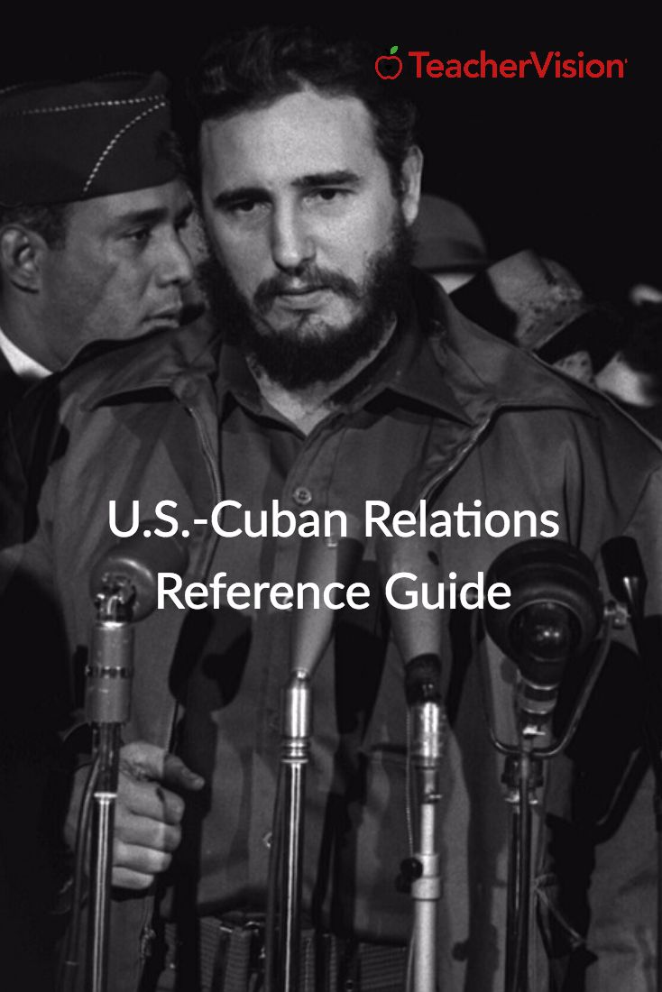 Use this reference when teaching United States-Cuban relations with middle school students. (Grades 6-8)
