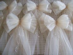 how to make a pew bow with flowers - Google Search