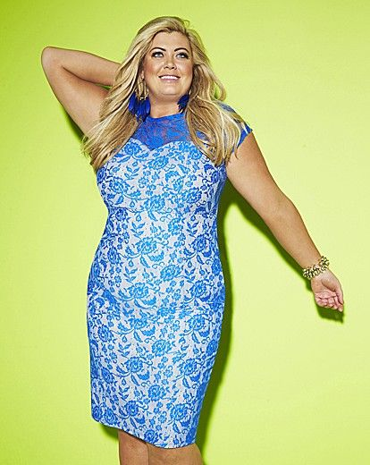 Gemma Collins Bonded Lace Dress  | Simply Be