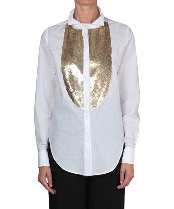 AMEN Ccotton shirt with sequins embroidery. #amen #cloth #embroidery