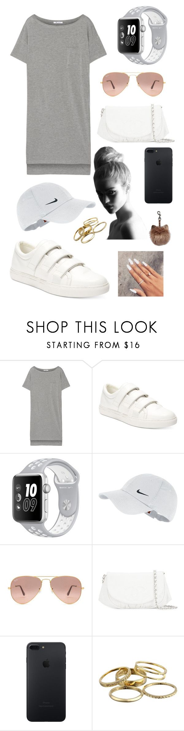 """Untitled #99"" by annaschluter on Polyvore featuring T By Alexander Wang, Kenneth Cole, NIKE, Ray-Ban, Chanel and Kendra Scott"