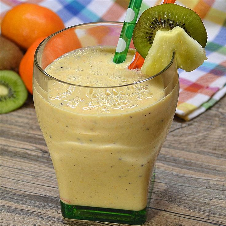 Ananas smoothie met groene thee @ allrecipes.nl