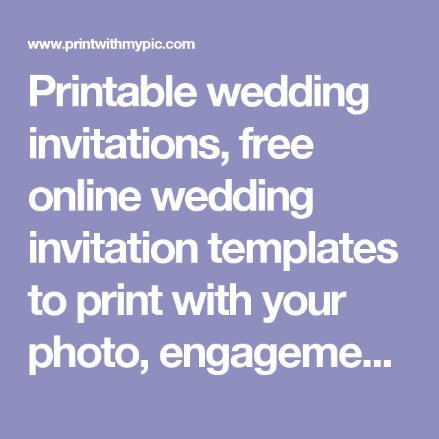The 25+ best Online wedding invitation ideas on Pinterest Uber - engagement invitation templates free printable