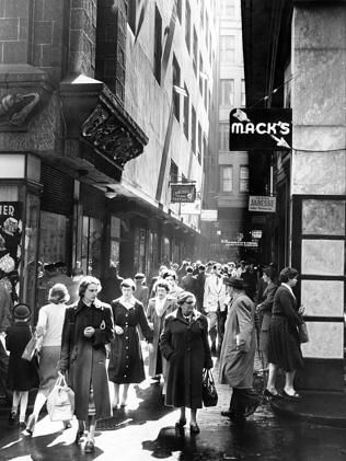 1956: The Centreway Arcade. Picture: Herald Sun Image Library/ ARGUS