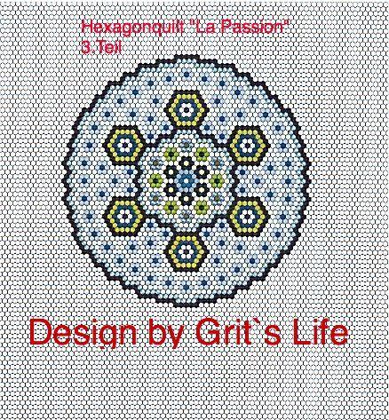 """Grit's Life: Part 3 Hexagon Quilt """"La Passion"""""""