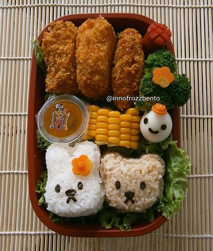 Rabbit and Bear Bento