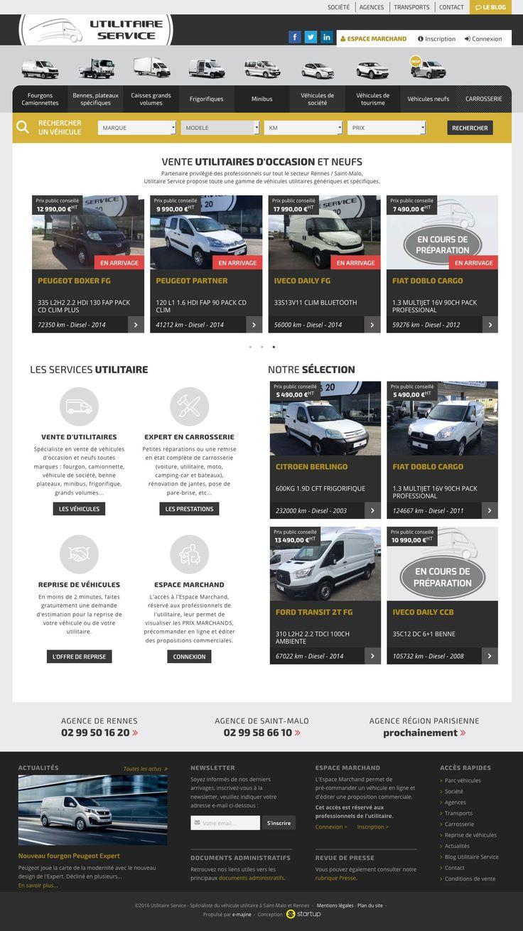 Refonte complète du site Utilitaire Service, vente de véhicules utilitaires d'occasion et neufs.www.utilitaire-service.fr