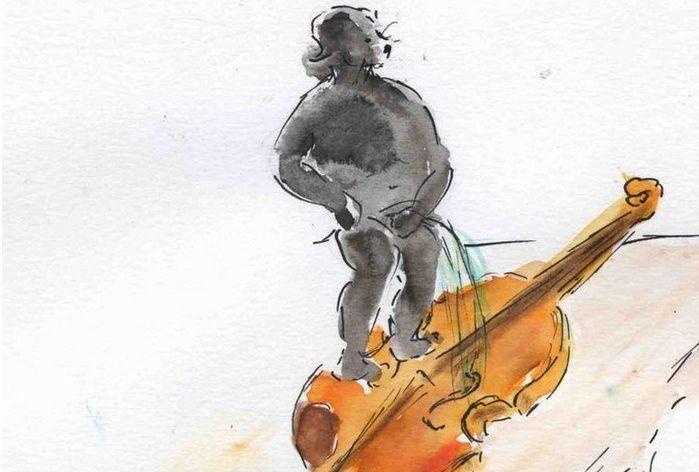 """Dire ou faire quelque chose qui ne sert à rien, c'est comme """"pisser dans un violon"""". Mais pourquoi cet instrument et pas un autre ?"""