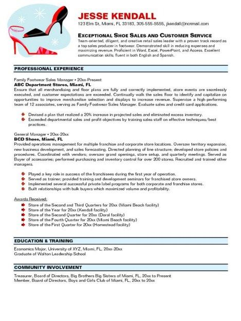 Store Manager Resume Experience -    jobresumesample 2027 - retail assistant manager resume