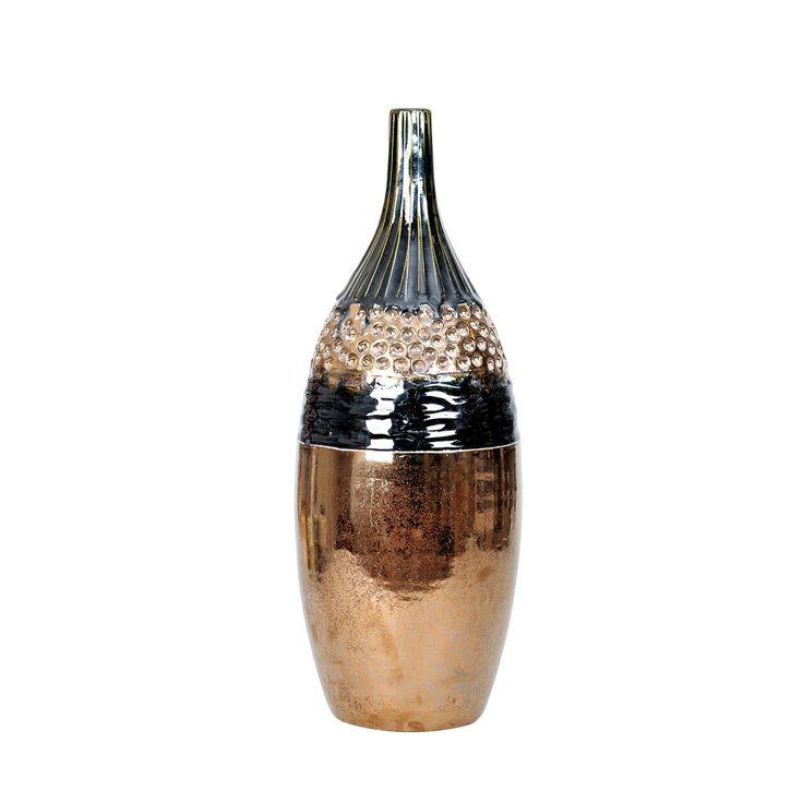 Ceramiczny wazon A'foinse #wazon #vase #ceramiczny #ceramics #gold #copper #złoty #miedziany #shine #unique #homedecor #design #homedesign #decoration #new #amiou #onemarket.pl