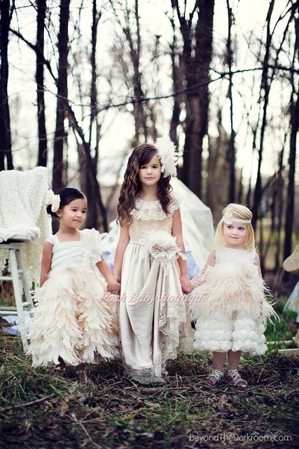Supreme Elegant Champagne Flower Girls Dress