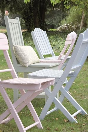 painted garden chairs using cuprinol shades paint in pastel colours an easy garden furniture makeover marble gardens
