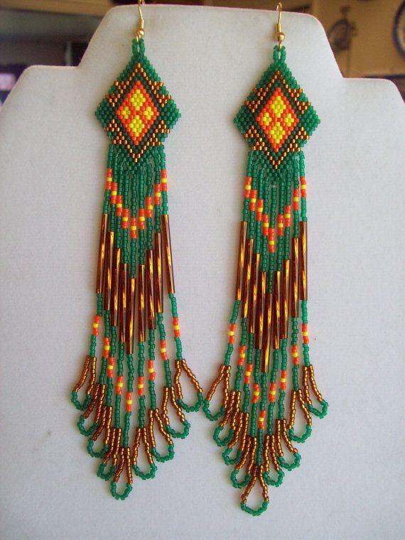 Native American pattern earrings by Elaine of ...