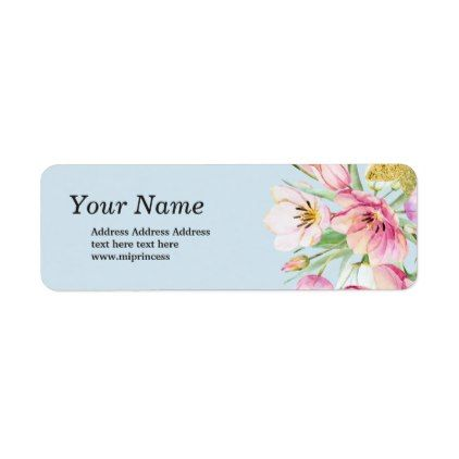 spring flowers floral  return address stickers - floral style flower flowers stylish diy personalize
