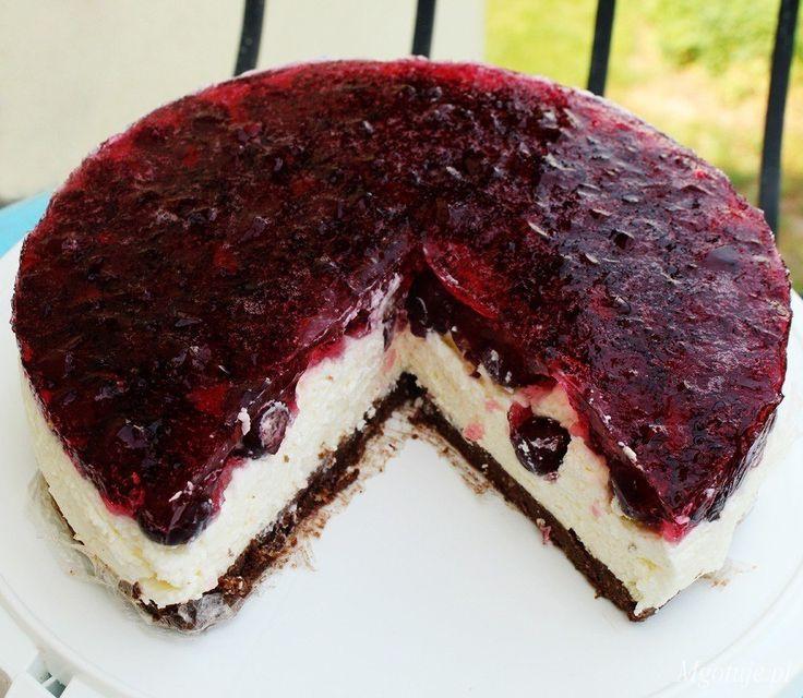 Ciasto zwiśniami inutellą