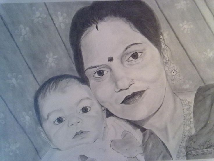 Bhabhi (lady with her cute baby)